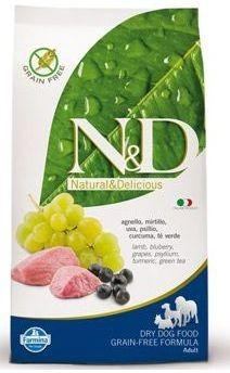 N&D Grain Free DOG Adult Lamb & Blueberry 800g