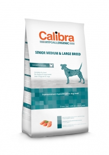 Calibra Dog Hypoallergenic Senior Medium & Large Breed / Chicken & Rice 14kg