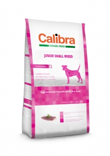 Calibra Dog Grain Free Junior Small Breed / Duck & Potato 7kg