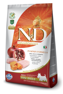 N&D Grain Free Pumpkin Adult Mini Chicken & Pomegranate 7 kg