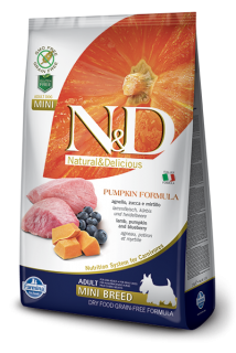 N&D Grain Free Pumpkin Adult Mini Lamb & Blueberry 7 kg
