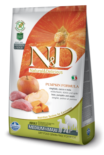 N&D Grain Free Pumpkin Adult M/L Boar & Apple 12kg