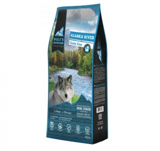 DUOPACK Wolf's Mountain Dog Alaska River Grain Free (2x12,5kg)