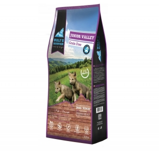 DUOPACK Wolf's Mountain Dog Junior Valley Grain Free (2x12,5 kg)