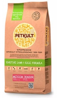 PETKULT dog MEDIUM JUNIOR lamb/rice 12kg