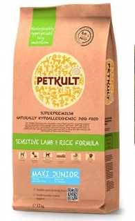 PETKULT dog MAXI JUNIOR lamb/rice 12kg