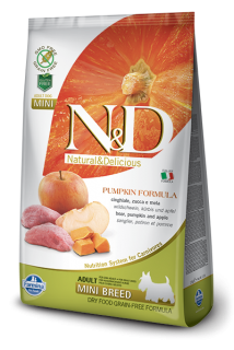 N&D Grain Free Pumpkin Adult Mini Boar & Apple 2,5kg