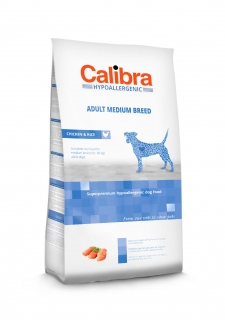 Calibra Dog Hypoallergenic Adult Medium Breed / Chicken & Rice 3kg