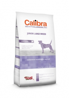 Calibra Dog Hypoallergenic Junior Large Breed / Lamb & Rice 14kg
