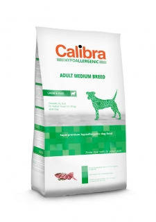 Calibra Dog Hypoallergenic Adult Medium Breed / Lamb & Rice 14kg