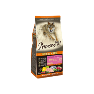 PRIMORDIAL Dog Puppy Chicken & Seafish 12kg