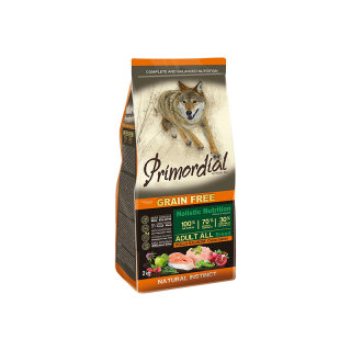 PRIMORDIAL Dog Adult Chicken & Salmon 2kg