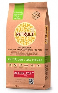 PETKULT dog MEDIUM ADULT lamb/rice 2kg