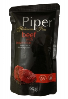 Piper Platinum Pure - Beef with Brown Rice 150g