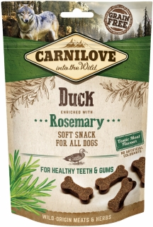 Carnilove Dog Semi Moist Snack Duck enriched with Rosemary 200 g