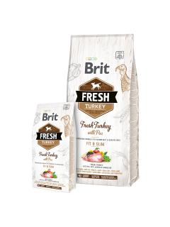 Brit Fresh Turkey with Pea Adult Fit & Slim 2,5kg